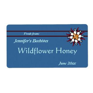 Etiqueta Borgoña floral con el enlatado de las rayas