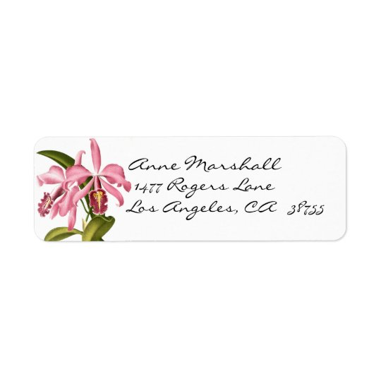 Etiqueta botánica de Avery de las orquídeas del Etiqueta De Remite