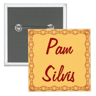 Etiqueta/botón conocidos personalizados/Pin Chapa Cuadrada 5 Cm