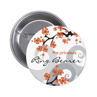 Etiqueta/botón tropicales del nombre del boda del chapa redonda 5 cm