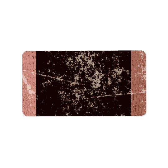 Etiqueta Brown rústico y rosa