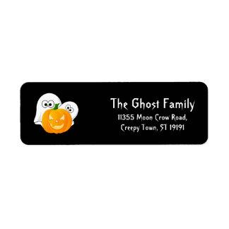 Etiqueta Calabaza personalizada de los fantasmas de