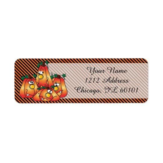 Etiqueta Calabazas lindas de Halloween