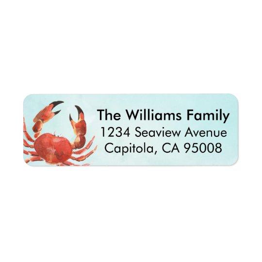 Etiqueta Cangrejo costero personalizado