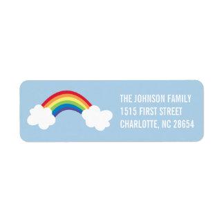 Etiqueta caprichosa del remite del arco iris
