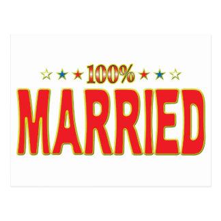 Etiqueta casada de la estrella postal