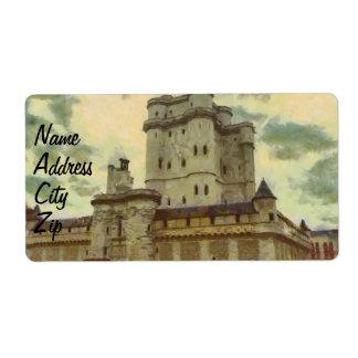 Etiqueta Castillo de Vincennes, pintura de París