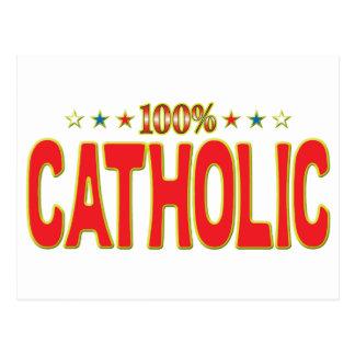 Etiqueta católica de la estrella postales