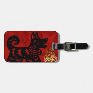 Etiqueta china del equipaje del zodiaco del año de