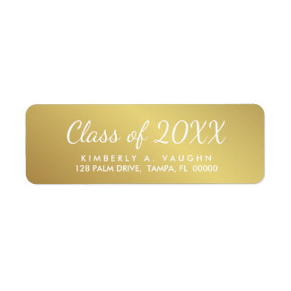 Etiqueta Clase de la graduación de remite de la mirada de
