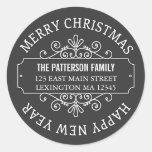 Etiqueta clásica de las Felices Navidad de la