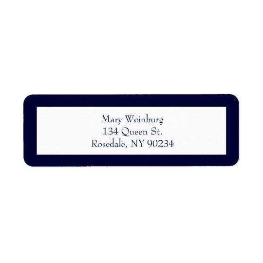 Etiqueta clásica del remite de la marina de guerra etiquetas de remite