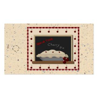 Etiqueta colgante de la empanada de la cereza tarjetas personales