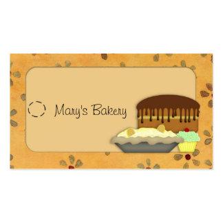 Etiqueta colgante de los postres tarjetas de negocios