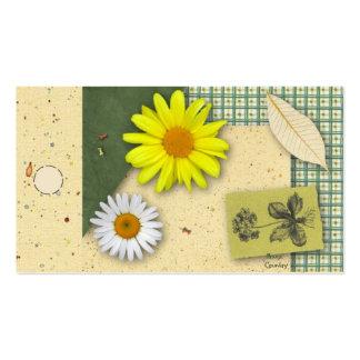 Etiqueta colgante floral del libro de recuerdos tarjetas de visita