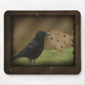Etiqueta colgante primitiva Mousepad del cuervo Alfombrillas De Ratones