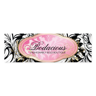 Etiqueta colgante pródigo del boutique Bodacious 3 Tarjetas De Visita