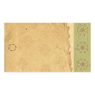 Etiqueta colgante verde del borde tarjetas de visita