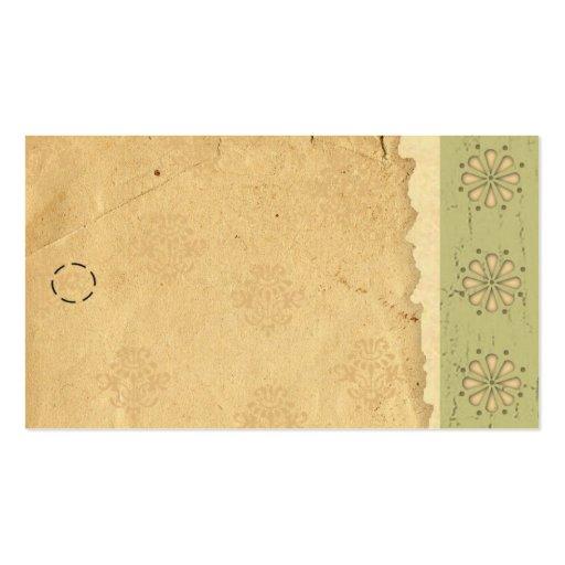 Etiqueta colgante verde del borde plantilla de tarjeta de negocio