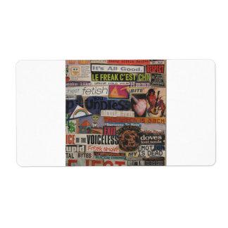 Etiqueta Collage #12 de la imagen de la revista y de la