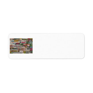 Etiqueta Collage de papel de la palabra del mache de las