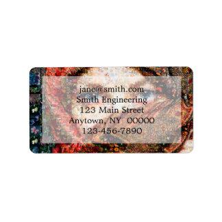Etiqueta Collage-ojo-chica beduino del chica-ojo del