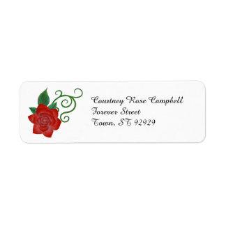 Etiqueta color de rosa elegante del remite etiquetas de remite