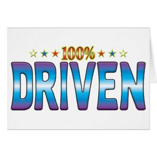 Etiqueta conducida v2 de la estrella tarjeta de felicitación