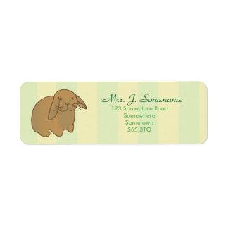 Etiqueta Conejito lindo de Brown