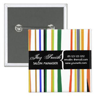 Etiqueta conocida colorida chapa cuadrada 5 cm