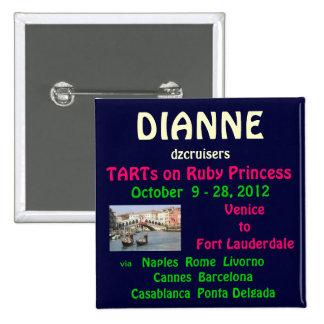 Etiqueta conocida de rubíes de princesa TA Pin