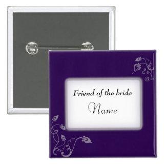 Etiqueta conocida del boda chapa cuadrada 5 cm