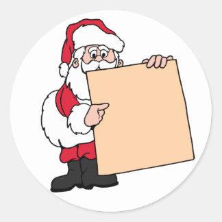 Etiqueta conocida Papá Noel de la fiesta de