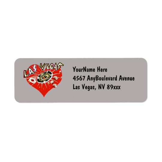 Etiqueta Corazón de juego del casino de Las Vegas