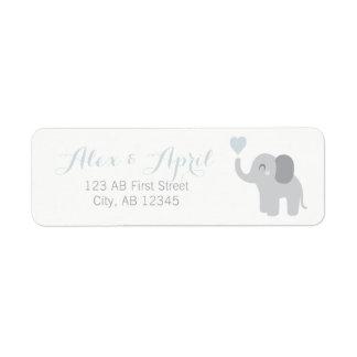 Etiqueta Corazón del elefante del muchacho de la invitación