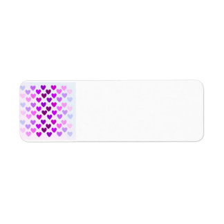 Etiqueta corazones púrpuras