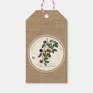 Etiqueta corporativa del regalo del atasco rústico etiquetas para regalos
