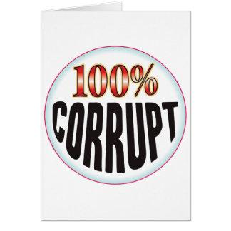 Etiqueta corrupta felicitaciones