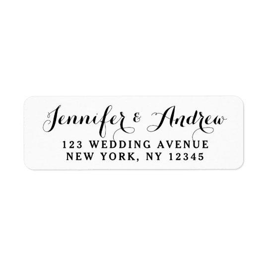 Etiqueta Cree el boda elegante de encargo