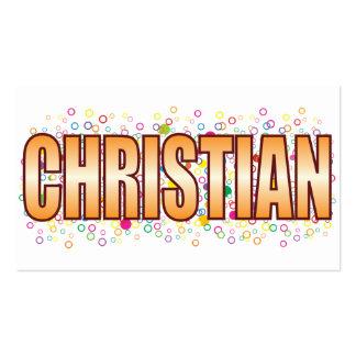 Etiqueta cristiana de la burbuja tarjetas de visita