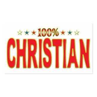 Etiqueta cristiana de la estrella tarjetas de visita