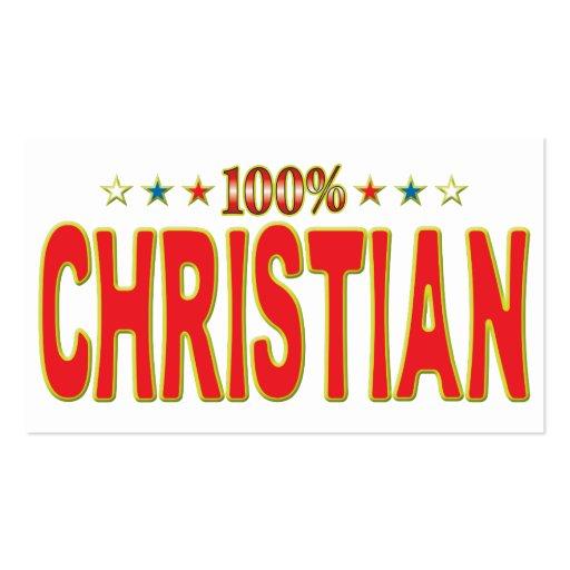 Etiqueta cristiana de la estrella tarjetas de negocios