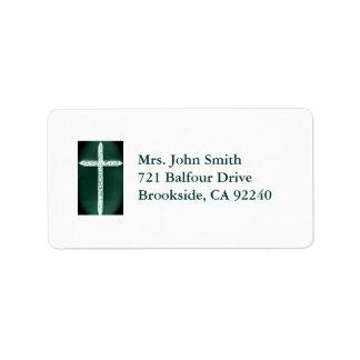 Etiqueta cristiana etiqueta de dirección