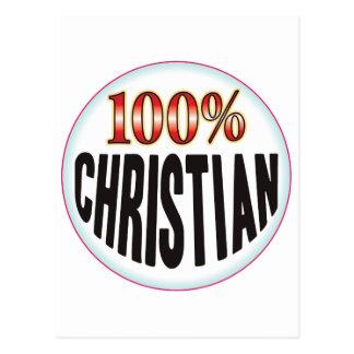 Etiqueta cristiana tarjeta postal