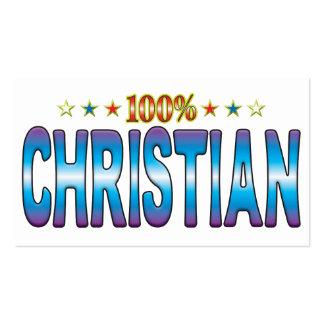 Etiqueta cristiana v2 de la estrella tarjeta de visita