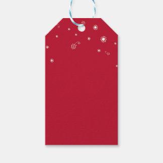 Etiqueta crónica del regalo del navidad