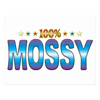Etiqueta cubierta de musgo v2 de la estrella tarjeta postal