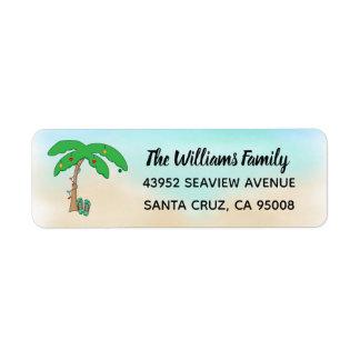 Etiqueta Cubierta hawaiana del navidad de la playa tropical