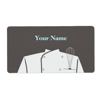Etiqueta culinaria del cocinero etiqueta de envío