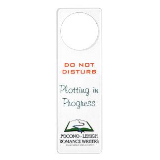 Etiqueta de advertencia colgantes para puertas